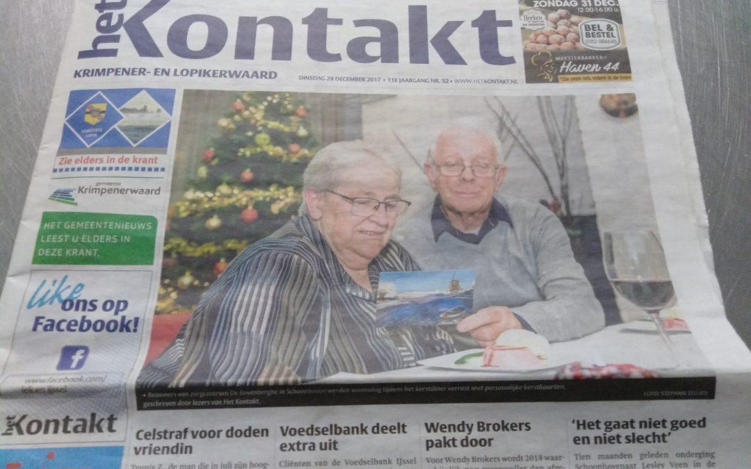Bewoners De Bovenberghe verrast met ludieke kerstkaartenactie