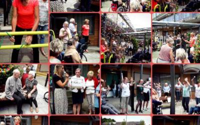 Opening beweegtuin locatie Wilgenhoven in Stolwijk met Olga Commendeur